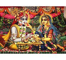 Radha Krishna. Bhojan lila (detail) Photographic Print