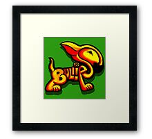 Bullies Letter Character Red and Yellow  Framed Print