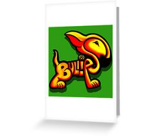 Bullies Letter Character Red and Yellow  Greeting Card