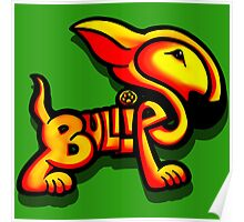 Bullies Letter Character Red and Yellow  Poster