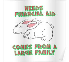 Needs Financial Aid Poster
