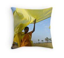 On the road. Tiruvanamalai Throw Pillow
