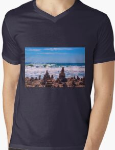 Standing Against The Elements Mens V-Neck T-Shirt
