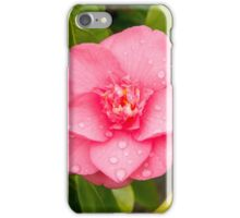 Raindrops on Camelia Flower iPhone Case/Skin