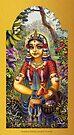 Shrimati Radhika picking flowers by Vrindavan Das