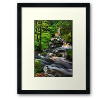 Highland Burn in spate, Summer. Scotland. Framed Print