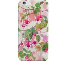 Rainbow Fuchsia Floral Pattern iPhone Case/Skin