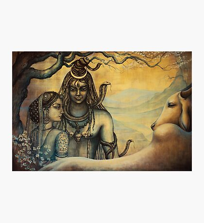 Shiva and Parvati. Spring in Himalayas Photographic Print