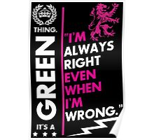GREEN THING Poster