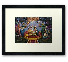 Radha Krishna. Bhojan lila Framed Print