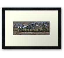 Under rocky peaks Framed Print