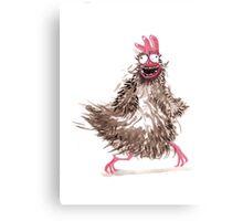 chicken crazy Canvas Print