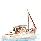 boat watercolour by Tristan Klein