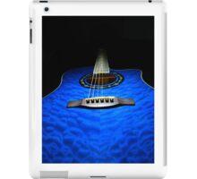 Blue guitar iPad Case/Skin