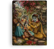 Radha playing vina Canvas Print