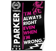 PARKER THING Poster