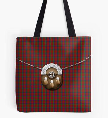 Clan Robertson Tartan And Sporran Tote Bag