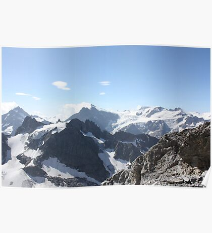 The mountains of Switzerland Poster
