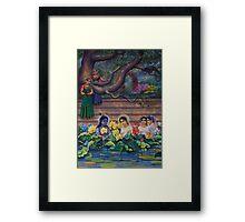 Radha and Krishna in Radha kunda Framed Print