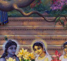 Radha and Krishna in Radha kunda Sticker