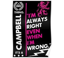 CAMPBELL THING Poster