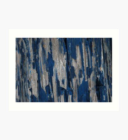 blue peeling  Art Print