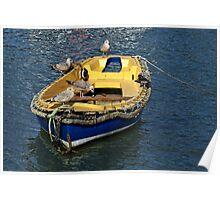 The Nursery Boat ~ Lyme Regis Harbour Poster
