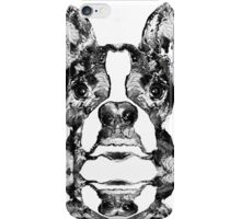 Boston Terrier Dog Black And White Art - Sharon Cummings iPhone Case/Skin