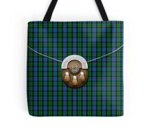 Clan Morrison Tartan And Sporran Tote Bag