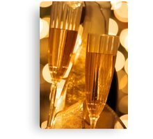 Two champagne glasses Canvas Print