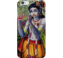 Krishna with flute iPhone Case/Skin
