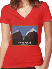 Peak Viewing Women's Fitted V-Neck T-Shirt