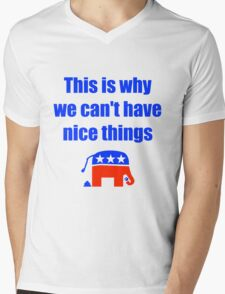 Anti-Republican Humor Mens V-Neck T-Shirt