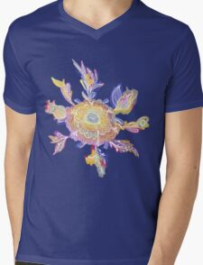 Magic Floral Pattern Mens V-Neck T-Shirt