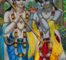 Krishna and Balaram Sticker