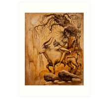 Shiva on Nandi bull Art Print