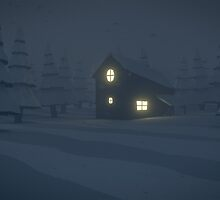 low poly - snow storm by Tim D'hoore