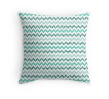 Chevron Aqua Zigzag Throw Pillow