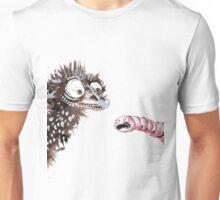 Emu and worm1 Unisex T-Shirt