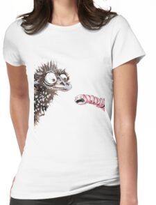 Emu and worm1 Womens Fitted T-Shirt
