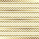 Chevron Gold Zigzag by SpiceTree