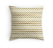 Chevron Gold Zigzag Throw Pillow