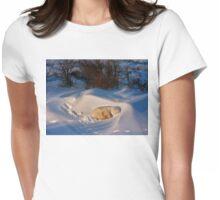 Yoga Bear savasana Womens Fitted T-Shirt