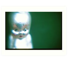 Fetus head. Art Print
