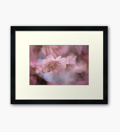 A Profusion Of Playful Pinks Framed Print