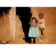 Massai siblings- (I think they're siblings) Photographic Print