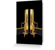 Gold guns Greeting Card