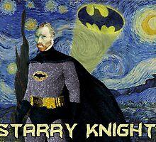 Starry Knight Van Gogh Batman by squawkmookie