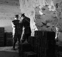 Guarding the Ammo - Chislehurst Caves, Kent (A Crafty Cigarette !!) by Colin J Williams Photography