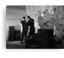 Guarding the Ammo - Chislehurst Caves, Kent (A Crafty Cigarette !!) Canvas Print